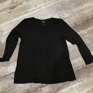 Eileen Fisher | dark brown blouse